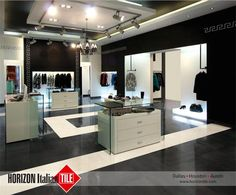 Create a super stylish environment, such as the store shown here, using our tiles! #TrendyTileThursday #HIT #Design