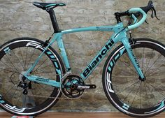 "Bianchi Oltre XR2 #Bianchi #bikes the all time classic ""Celeste Blue"""