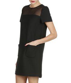E-boutique Robe Bi-matière Vardy Noir Comptoir Des Cotonniers femme | Place des Tendances