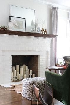 Fireplace Candle Decorating Ideas - Best 25 Candle fireplace ideas on Pinterest