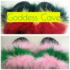 Marley & Sorority fuzzy slide😍 get yours today!