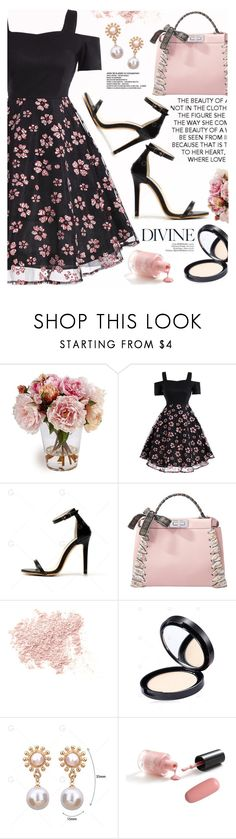 """Untitled #1158"" by yexyka ❤ liked on Polyvore featuring Fendi, Bare Escentuals and vintage"