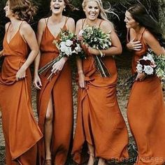 Modest Bridesmaid Dresses, Orange Bridesmaid Dresses, Bridesmaid Dresses For Cheap Bridesmaid Dresses 2018