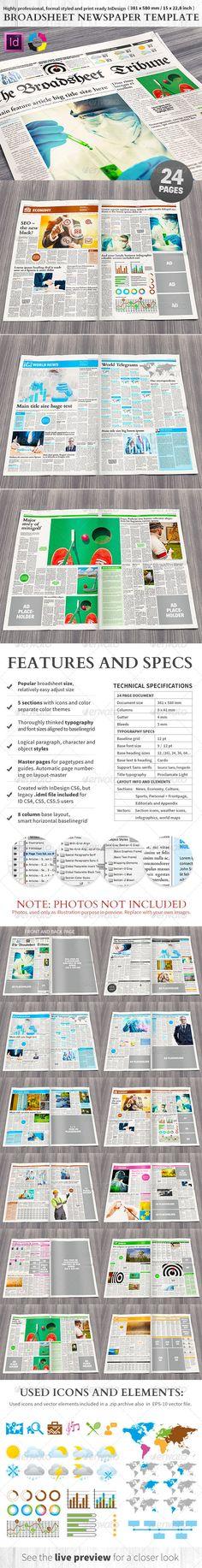 Indesign Modern Newspaper Magazine Template A3 Newspaper - forbearance agreement template
