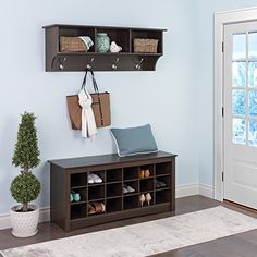 Visit The Home Depot to buy Prepac Fremont Entryway Shelf Shoe Storage Cubbie Bench, Cubby Bench, Entryway Shoe Storage, Shoe Cubby, Entryway Shelf, Shoe Bench, Entryway Organization, Front Door Shoe Storage, Living Room Ideas