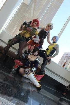 Borderlands: Lilith, Maya, Mad Moxxi, Tiny Tina #cosplay