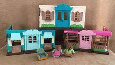Li'l Woodzeez Play Sets Lot Bakery General Store clinic Fit Calico Critters bear #Battat