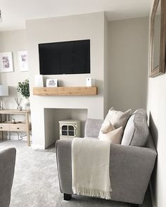 Living Room Ideas Uk, Living Room Built Ins, Open Plan Kitchen Living Room, Living Room Update, Living Room With Fireplace, Living Room Colors, Living Room Grey, Living Room Modern, Home And Living