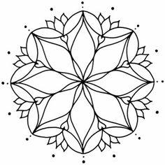 mandala for zentangles Mandala Pattern, Mandala Design, Mandala Art, Pattern Art, Stained Glass Patterns, Mosaic Patterns, Embroidery Patterns, Coloring Book Pages, Coloring Sheets