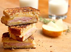 Smoked Gouda, Ham & Apple Grilled Cheese