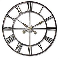 The Iron Tower - Large Wrought Iron Wall Clock