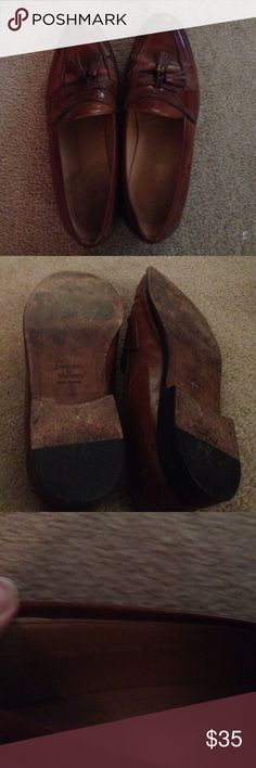 Men's Johnson and Murphy brown leather dress shoe Johnson & Murphy Men's Brown leather dress shoe.  Size 11 1/2m Johnson and murphy Shoes Flats & Loafers