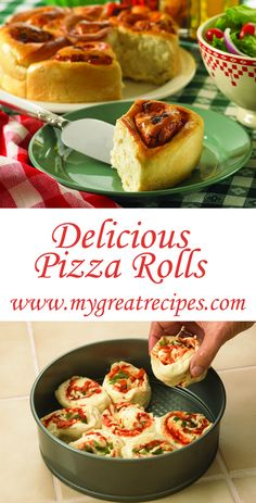 Filled with #mozzarella cheese, #pepperoni and fresh #herbs these family-pleasing #pizza #rolls smell #delicious and taste even better.