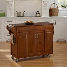 Shop for Home Styles Warm Oak Finish with Cherry Top Create-a-Cart. Get free shipping at Overstock.com - Your Online Kitchen
