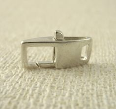 Square Sterling Silver Lobster Clasp  16mm X by UnkamenSupplies, $10.00