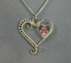 Handmade Sterling Silver Heart Pendant with by MystikCritterZ, $26.00