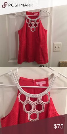 Lilly Pulitzer Annabelle Top Size 8 HTF!  Lilly Pulitzer Annabelle Red Cut Out Top!  Famous after Cameron on Southern Charm!!!  This top is so gorgeous!  Size 8 (runs more like a 6) in bright red. EEEUC. Lilly Pulitzer Tops Camisoles