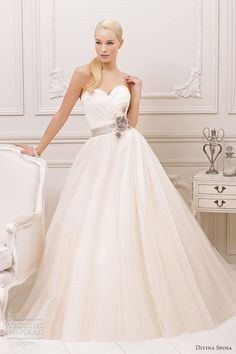 divina sposa bridal 2013 strapless sweetheart wedding dress