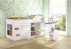 cama con escritorio y cajones - Buscar con Google
