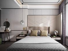 Luxury Bedroom Design, Luxury Home Decor, Interior Design, Home Bedroom, Bedroom Furniture, Hotel Apartment, Luxurious Bedrooms, Ceiling Design, House