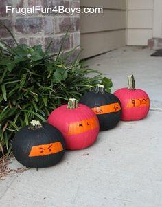 Ninja pumpkins--pretty funny!