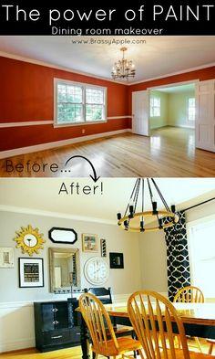 DIY dining room makeover - BrassyApple.com #pyrahplantation
