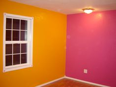 orange and pink rooms | Bright Pink and Orange Bedroom - Girls' Room Designs - Decorating ...