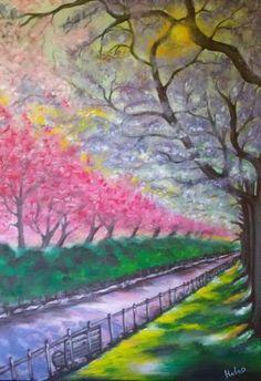 "Saatchi Art Artist Helen Bellart; Painting, ""Along the parkway"" #art"