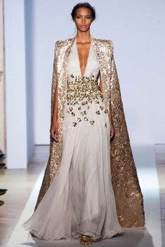 Gown with sequenced Cape. Zuhair Murad, Spring/Summer 2013 Paris