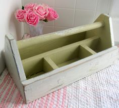Tool box: Green Tool Tote or Caddy Marked Jonnhy B  by Somethingcharming, $32.00