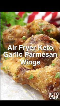 Air Fryer Oven Recipes, Air Fry Recipes, Crockpot Recipes, Cooking Recipes, Healthy Recipes, Keto Recipes, Fried Chicken Recipes, Healthy Chicken, Parmesan Chicken Wings