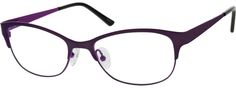 These stainless steel full rimmed women's frames come with acetate temple tips, adjustable silicone nose pads and spring hinges for that added comfort. They are also hypoallergenic for those with allergies. Cat Eye Sunglasses, Cool T Shirts, Eyeglasses, Casual Outfits, Stainless Steel, Purple, Blue, My Love, Viola