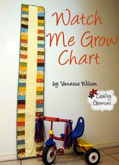 super cool growth chart pattern by vanessa wilson--make w/ lo quilt fabrics