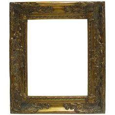 """11"""" x 14"""" Antique Gold Harrow Open Frame"""
