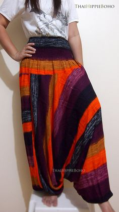 Colorful Stripes Boho Harem Pants/ Hippie Pants/ by thaihippieboho