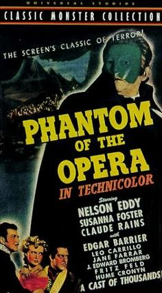 """Phantom of the Opera (1943) ~ """"This is the story of a disfigured violinist who haunts the Paris Opera House."""""""