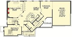Big Daddy Sport Court House Plan - 73356HS | 1st Floor Master Suite, 2nd Floor Master Suite, Butler Walk-in Pantry, CAD Available, Craftsman, Den-Office-Library-Study, Exclusive, Jack