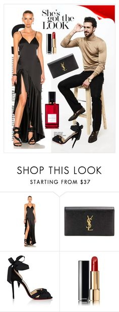 """Got the Look"" by tsma ❤ liked on Polyvore featuring Jonathan Simkhai, Yves Saint Laurent, Christian Louboutin, Mor, Chanel and Diana Vreeland"