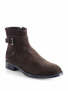 Tod's : Suede Ankle Strap Boots Shoes Too Big, Bago, Suede Ankle Boots, Ankle Strap, Chelsea Boots, Pairs, Shopping, Style, Fashion