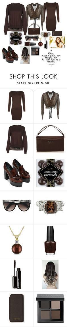 """caramel brown top-set, with loafers....♡♡♡"" by asma-luthfy ❤ liked on Polyvore featuring WearAll, Jean-Paul Gaultier, Marni, Prada, sugarfina, Gucci, Allurez, OPI, Beauty Is Life and Karen Millen"