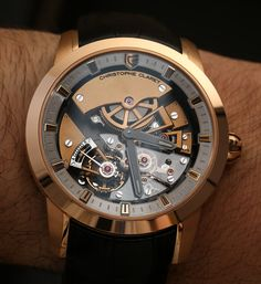 """Christophe Claret Maestoso Watch Hands-On - by Ariel Adams - Find out more and see all the photos on aBlogtoWatch.com """"I was a bit surprised at how much I ended up liking the 2014 Christophe Claret Maestoso watch. This is the first 'time only' watch Christophe Claret has ever produced under his own brand name and, as far as I know, the only watch that he produced that solely indicates the time. The simplicity of a time-only ultra-complicated watch is ironic..."""" #ABTWBaselworld2014"""