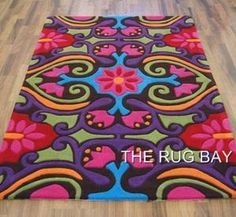HA10-02 MULTI COLOUR PINK TEAL GREEN RUGS THICK SOFT PILE SIZE 90 X 150cm | eBay