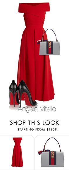 """""""Untitled #1107"""" by angela-vitello on Polyvore featuring Preen, Gucci and Christian Louboutin ##womensfashion#dresses#borntowear#outfits"""