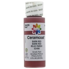 Barn Red 2 Ounces Ceramcoat Acrylic Paint Hobby Lobby 694448