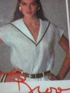 Vintage 80s Brooke Shields Tops