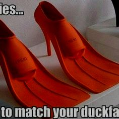 These are hilarious! Heels to match your duck faces!! I know a few ladies that could use these!