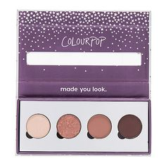 ColourPop x REVOLVE Pressed Powder Shadow Quad (€17) ❤ liked on Polyvore featuring beauty products, makeup, eye makeup, eyeshadow and beauty