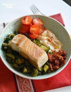 Assiette méditerranéenne gourmande – IG très bas & sans gluten – Megalow Food