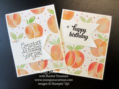 World Card Making Day 2016 Blog Hop - Click here to see several easy-to-make cards using the Fruit Stand Designer Paper and Tin of Cards Stamp Set (72 cards can be made with one pack of designer paper!)…#stampyourartout - Stampin' Up!® - Stamp Your Art Out! www.stampyourartout.com