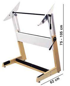Mesa de Desenho (PRANCHETA) TRIDENT madeira/ferro 4803-BP120x90